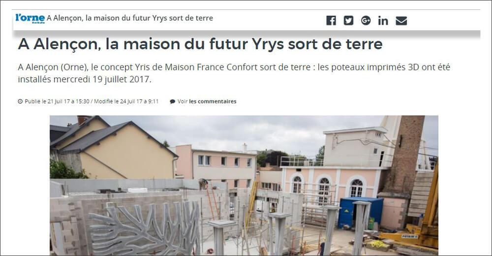 A Alençon, La Maison Du Futur YRYS Sort De Terre.