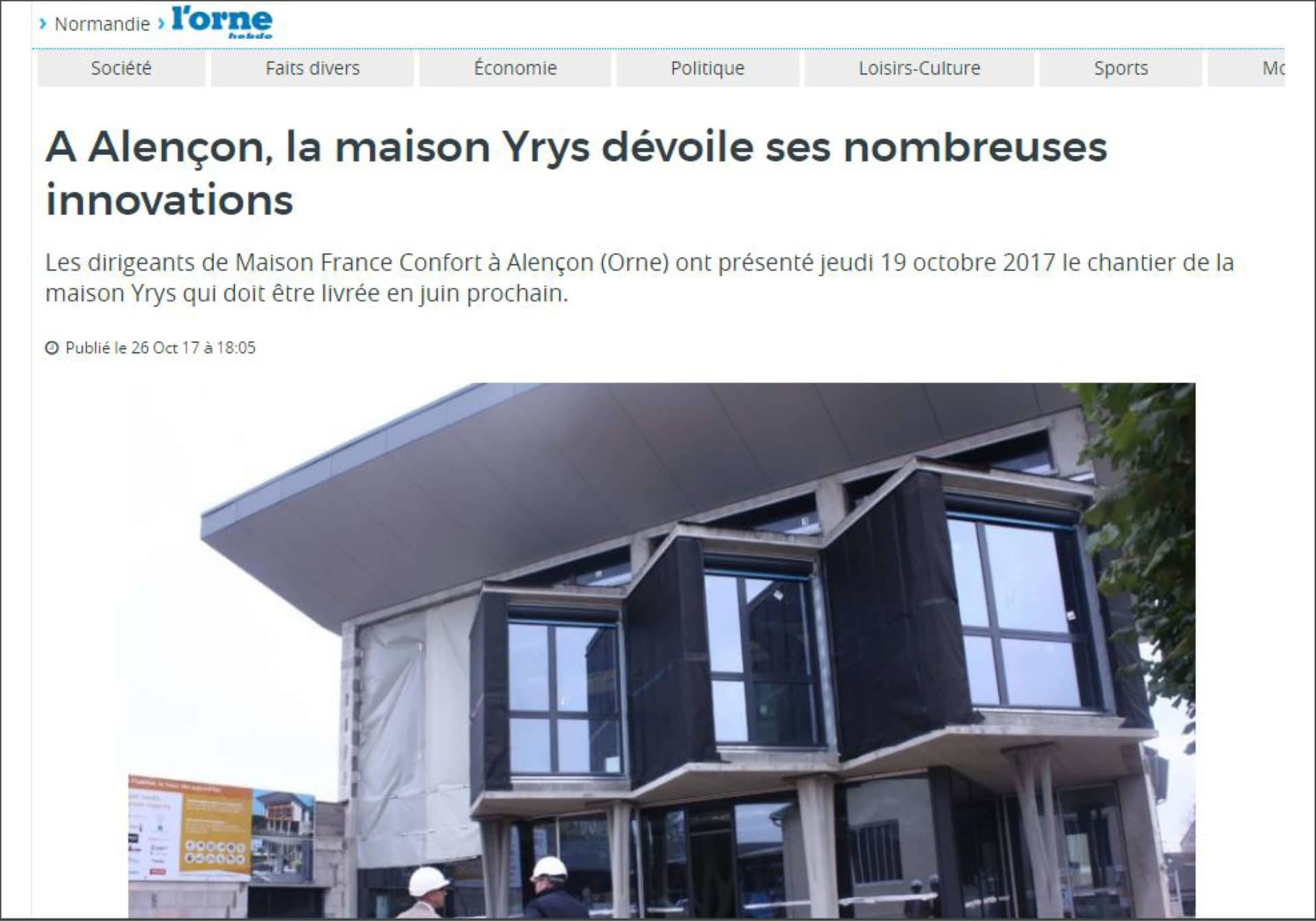 Orne Hebdo du 25/10/2017