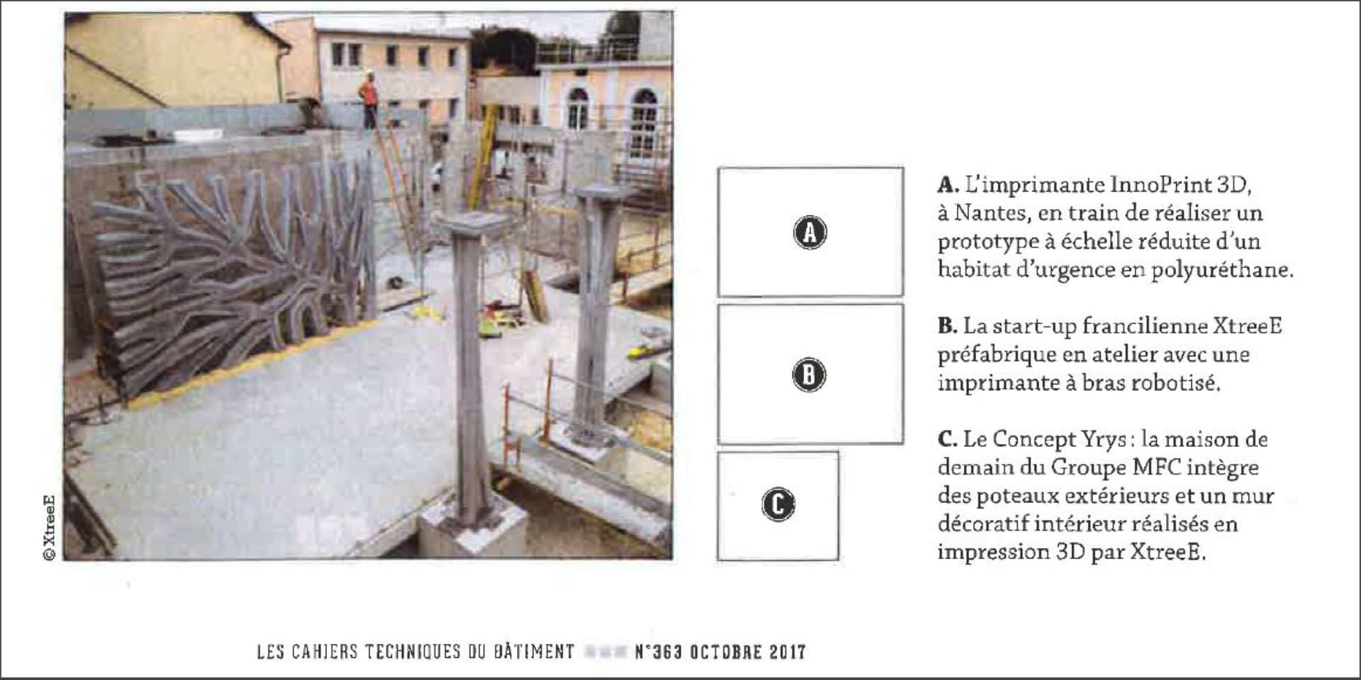 Impression 3D dans les cahiers techniques du bâtiment