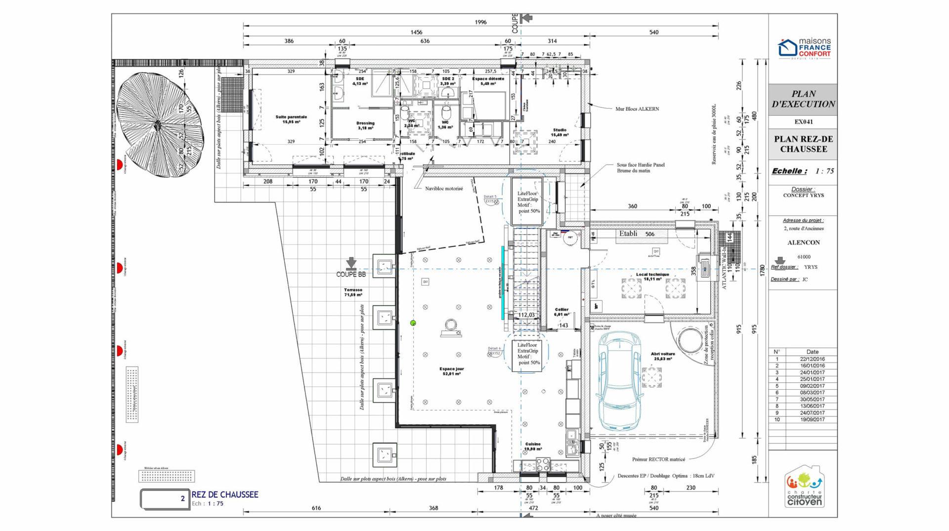 plan d'exécution de maison