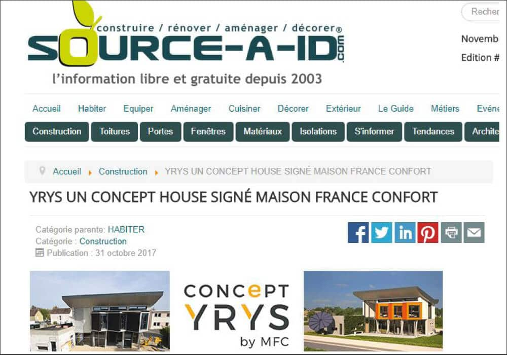 Source-a-id évoque le Concept house YRYS de MFC