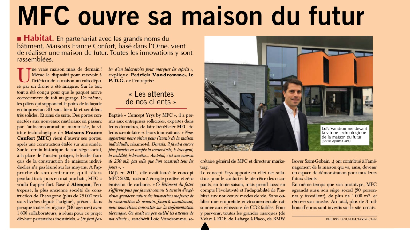 Paris Normandie et Aprim parle du Concept YRYS by MFC