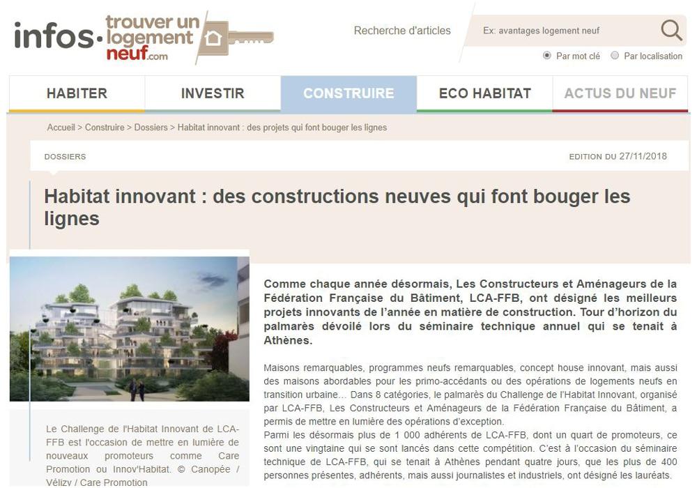 Article Habitat innovant