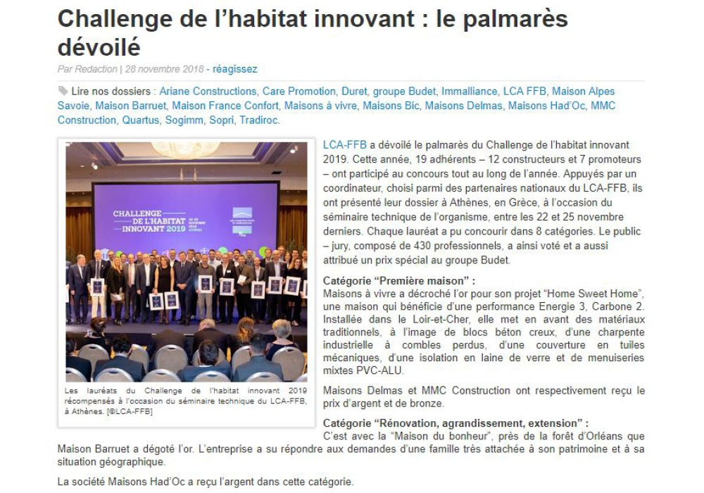 AC Presse Challenge Habitat Innovant