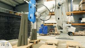 Impression 3D béton des moules des poteaux YRYS.